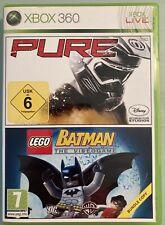 PURE & LEGO BATMAN - The Videogame / 2 Spiele / 2 Disc-Set / Microsoft Xbox 360