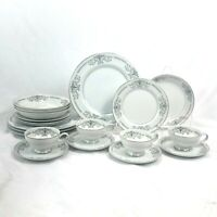 20 PIECE SET MIKASA MARGARET DINNERWARE DINNER SALAD PLATE BOWL CUP SAUCER