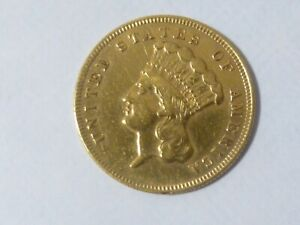 1874 $3  Gold Princess head coin Nice Grade