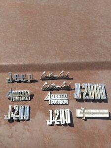 jeep truck kaiser emblems logos assortment.
