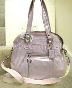 COACH 16283 POPPY LEATHER HIGHLIGHT BAG PURSE Crossbody Strawberrymilk Pink NEW