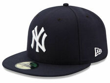 New Era 59Fifty New York NY Yankees Game Fitted Hat (Dark Navy) MLB Cap