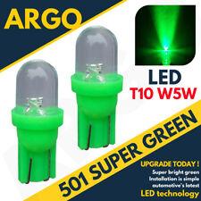 501 1 LED Bombillas De Tablero Verde XENON T10 W5W 194 HID Mazo FARO 12v x2