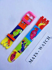 SWATCH+ORIGINALBAND+PUZZLE MOTION+ASUPP101 DANCING HANDS+19mm+NEU/NEW