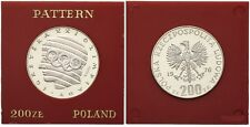 1976 Poland Proof Silver Proba Pattern 200 ZL Olympic Rings/Head