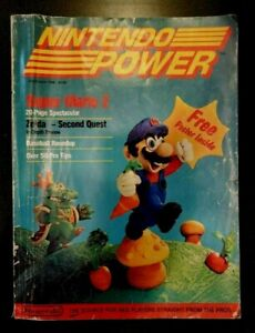 Nintendo Power First Issue, Vol 1, Jul/Aug 1988, Mario 2, poster mailer complete