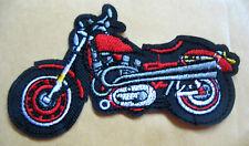 Motorrad Speed Biker 6,2x3,6cm Patches Aufbüge Aufnäher // Bügelbild blau