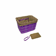 Electra Bikes Basket Liner Purple green oval bicycle cover w/ Satchel