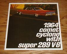 1964 Mercury Comet Cyclone w Super 289 V-8 Foldout Sales Brochure 64