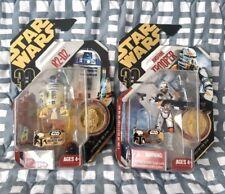 Star Wars 30th Anniv. Gold Foil Coin R2-D2 Artoo Deetoo Airborne Trooper Lot MOC