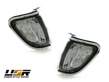 Depo Chrome Trim Clear Front Corner Lights Lamps For 01 02 03 04 Toyota Tacoma