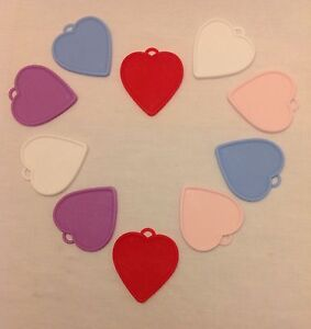 10 Heart Shaped Plastic Balloon Weights with a FREE reel of 25m Balloon Ribbon