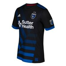 San Jose Earthquakes MLS Adidas Men's Black Climacool Authentic On-Field Jersey