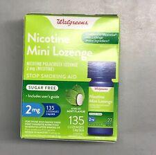 Walgreens Nicotine Mini Lozenge 2mg Mint Flavor 135 Lozenges Exp 12/2021