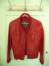Blouson cuir rouge MANGO L/40/42
