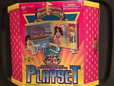 MIGHTY MORPHIN POWER RANGERS GIRLS CARRYING CASE PLAYSET plastic band