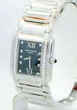 NEW Patek Philippe Twenty-4 Diamond Black Dial $13,000.00 Stainless Steel watch.