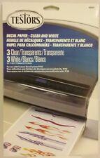 Testors decal paper
