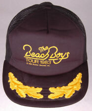 Vtg BEACH BOYS Tour 1983 Hat-Black-Mesh-Foam Front-Snapback-Leaf Bill-Brother