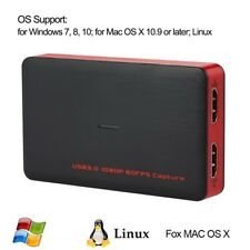 HD Game Capture Card HDMI to USB 3.0 1080P HD Recorder Game/Video Live Streaming