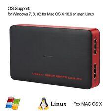 Dual HDMI Port HD Video Game Capture Card 1080P HD Record For Windows Mac Linux