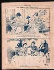 WWI Caricature Guerre War / Explosion Marmites Bataille Verdun 1917 ILLUSTRATION