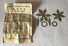 Vintage Kays Practical Embroiderer Booklet & 7 X Templates