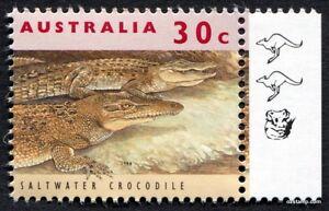2017 30c Crocodile 11th Reprint RH Tab 1994 Kangaroo Koala SG1361 MUH Mint Stamp