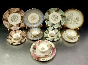 SET OF 5 Alka Bavaria Art Deco Cup, Saucer, Dessert Plate TRIO sets Bareuther ++
