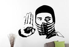 Scorpion Wall Sticker Mortal Kombat Decal Movie Art Boys Bedroom Decor 7erfv