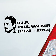 R.I.P. Paul Walker adesivo auto quasi JDM DUB Tuning Turbo Furious Sticker 241