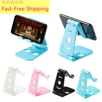 Universal Dual Foldable Swivel Moblie Phone Stand Holder Desk Tablet Stand