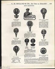 1921 ADVERT 4 PG Boyce MotoMeter Moto Meter AC Titan Spark Plugs