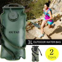 3L Water Bladder Bag Backpack Hydration System Survival Pack Hiking Camping Eg
