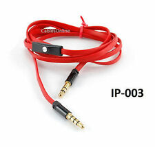 """46"""" Car Auxiliary 3.5mm Stereo Audio Cable w/ In-line Mic & PickUp/HangUp Button"""