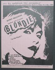 Blondie Bomp Records In Store 1977 Punk Flyer Debbie Harry Rodney Bingenheimer