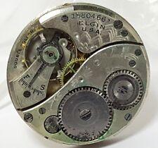 Vintage mens Elgin Double Roller 26mm mechanical watch movement repair #14AAD