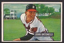 1951 Bowman #243 John Johnny Antonelli Boston Braves baseball card