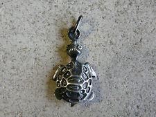 TARTARUGA-TOURTLE  grande ciondolo in argento 925 millesimi Brunito