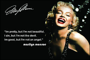 MARILYN MONROE A4 laminated glamour movies colour poster picture photo