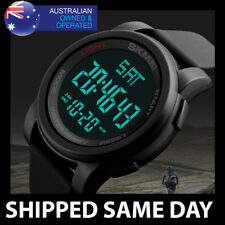 50M SKMEI DIGITAL WATERPROOF SPORTS WATCH Army Divers Mens Water Resistant Gold