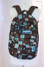 Jansport Backpack Medium Size Child School Bag Geometric Brown Teal 17 X 16 Book
