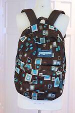 Jansport Backpack Medium Size Child School Bag Geometric Brown Teal 17 X 16 Book