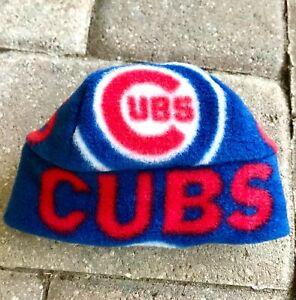 Chicago Cubs MLB Fleece Beanie Hat Infant Newborn Baby Girls Boys to Men & Women