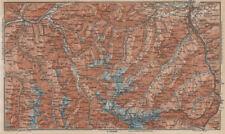 STUBAIER ALPEN. Stubaital Ötztal Pitztal. Solden Kühtai Innsbruck  1927 map