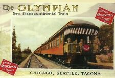 The Olympian Train Chicago Milwaukee St Paul & Pacific Railroad, MODERN Postcard