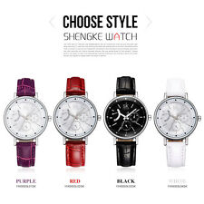 New Women Dress Watches Montre Female Leather Strap Fashion Quartz Analog Watch