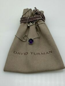 David Yurman Sterling Silver Women's Chatelaine Pendant Necklace with Amethyst