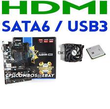 HTPC COMBO AMD A8-5500 QUAD CORE FM2 CPU+MSI SATA6 USB3 HDMI GLAN Motherboard