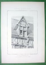 ARCHITECTURE PRINT : France Timber House at Gallardon Dormer Window